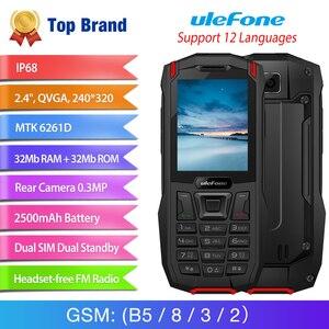 Image 2 - Ulefone móvil inteligente Armor Mini, móvil con resistencia al agua IP68, en el exterior para aventuras, pantalla de 2,4 pulgadas, procesador MTK6261D, Radio FM inalámbrica, batería de 2500mAh, cámara de 0,3 MP, Tarjeta SIM Dual