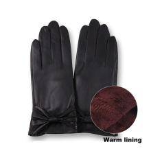 New Leather Gloves Ladies Thick Warm And Velvet Winter Touch Screen Driving Sheepskin L17014-5