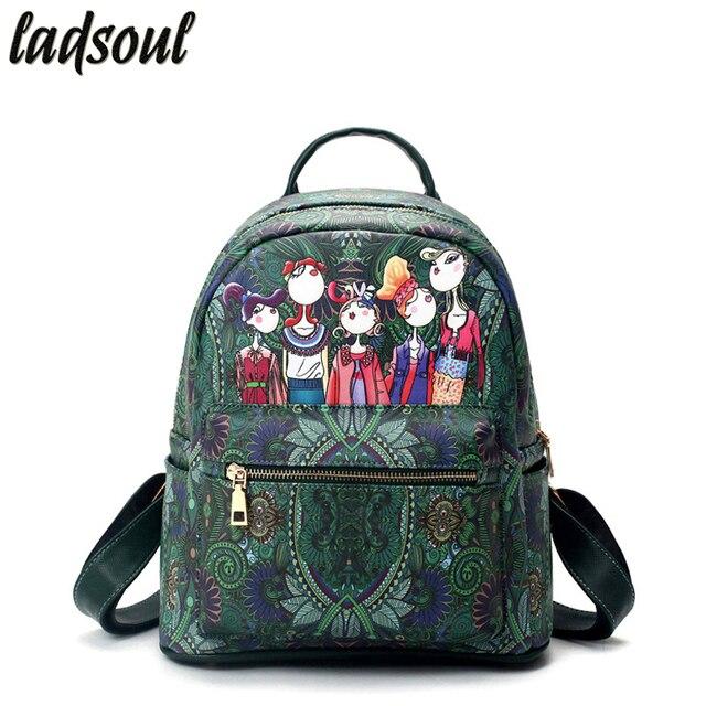 Ladsoul Women Backpacks Students School Backpacks Leather Backpacks