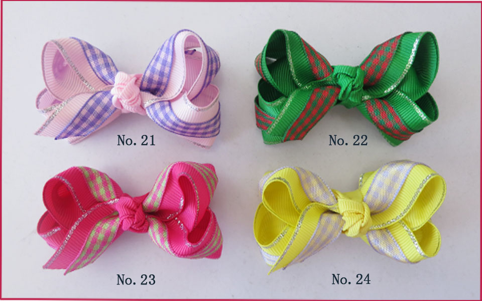 100 BLESSING Good Girl Boutique 2.75 - 3 Bow 2 Tone Double ABC Hairbow Clip blessing and love big or retail a good gift for weddin new guaranteed 100