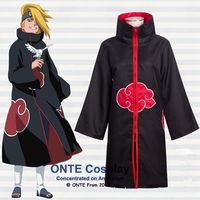 Naruto Cosplay Kostuums Akatsuki Itachi Mantel Deidara Gewaden Plus Size voor Halloween Party XS-5XL
