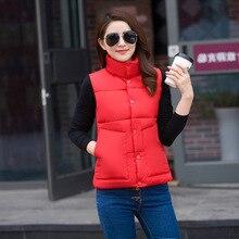 Winter Women Waistcoat Vest Parkas Female Outerwear Cotton-padded Down Coats Girls Sleeveless Midi Long Thicken Warm Vest Jacket цены