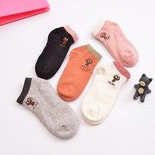 2016 kids girls socks cute cartoon cat print ankle socks kids girls casual sock 100% cotton, 5 Pairs / Lot