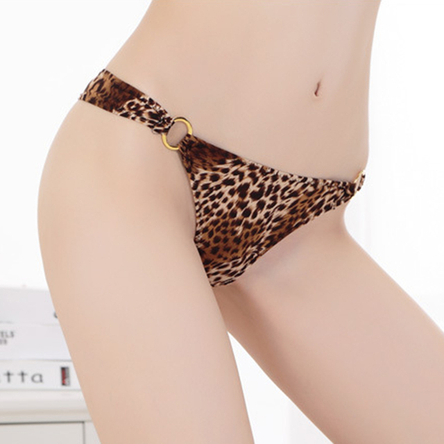Fashion Women Thongs And G Strings Leopard Panties Ladies Sexy Underwear Lingerie Culotte Femme