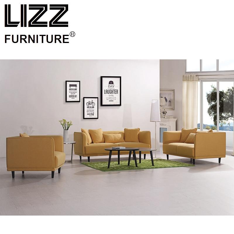China Corner Sofas Loveseat Chair Fabric Sectional Sofa Set Living Room Furniture Modern Scandinavian Canape Fabric Couch Divani