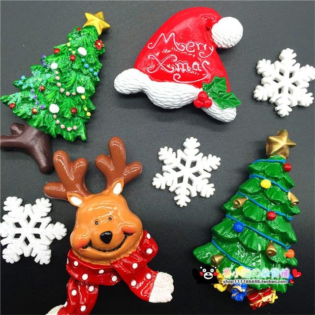 Cute 3D Handmade Fridge Magnet Christmas Decorations for Home ...