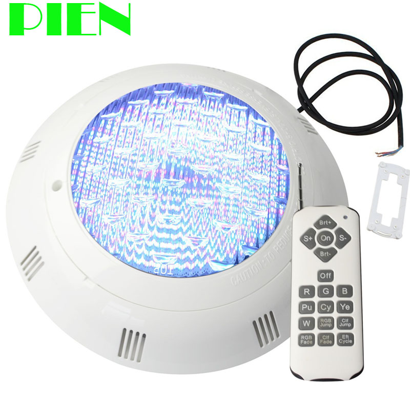 12V Underwater lights RGB LED Pool Light Wall mounted IP68 fountain lamp 18W with Wireless 18 Key Remote Free shipping цена