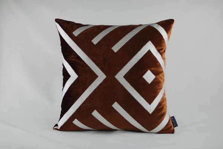 Rams Embroidered Decorative Geometric Pillow Cushion Home Decor Embroidery