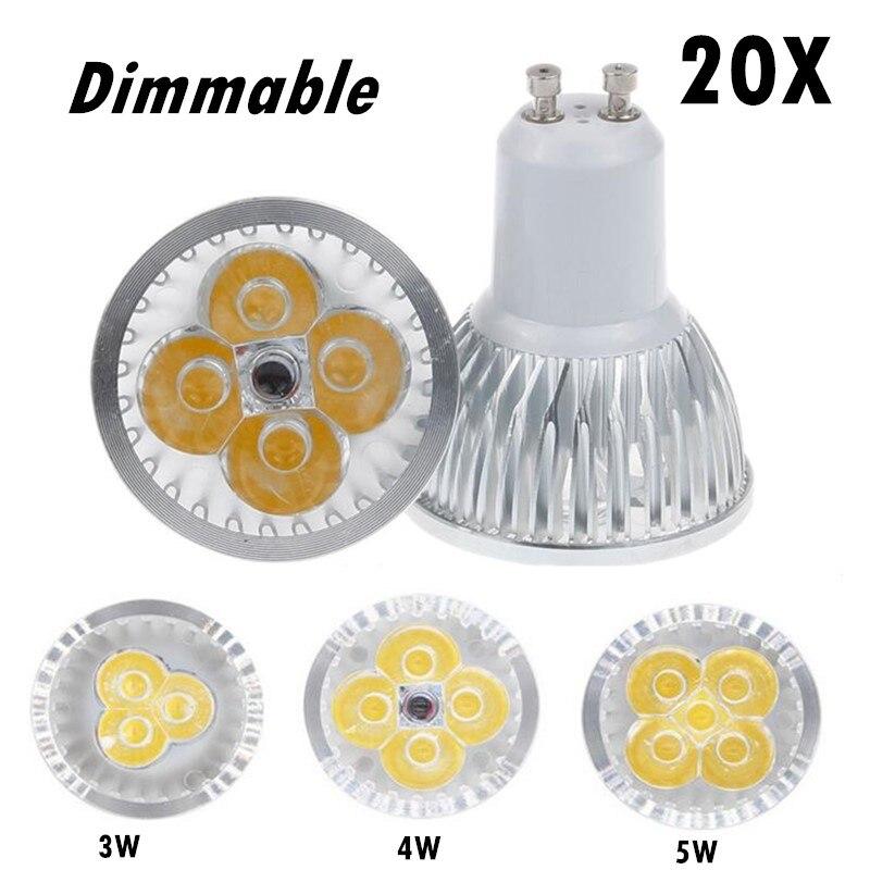 20 штук затемнения светодиодные лампы <font><b>E27</b></font> 220 В 110 В GU5.3 лампада Светодиодный прожектор GU10 3 Вт 4 Вт 5 Вт 85-265 В MR16 12 В пятно Luz светодиодные лампы Осв&#8230;