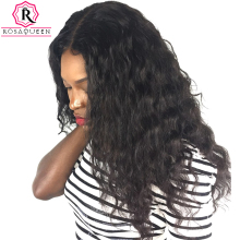 Rosa Queen Lace Front Human Hair Wigs For Black Women Brazilian Loose Wave Remy Hair 130% Density With Baby Hair
