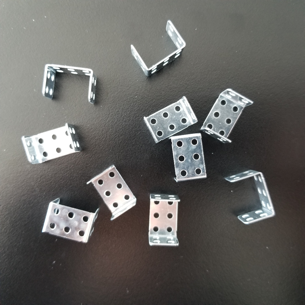 10pcs/bag K995b Double Right Angle U-shaped 15mm Length Iron Corner Bracket DIY Connect Sale At A Loss Italy