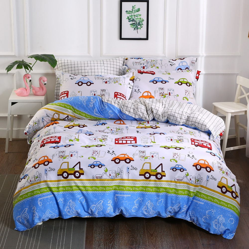 Aliexpress.com : Buy Kids Boys Bedding Set Cars Vehicles ...