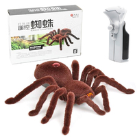 Radio Remote Control Realistic Fake Insect RC Insect Bug RC Prank Toys Insects Joke Scary Trick Spider Brown 2 Channels