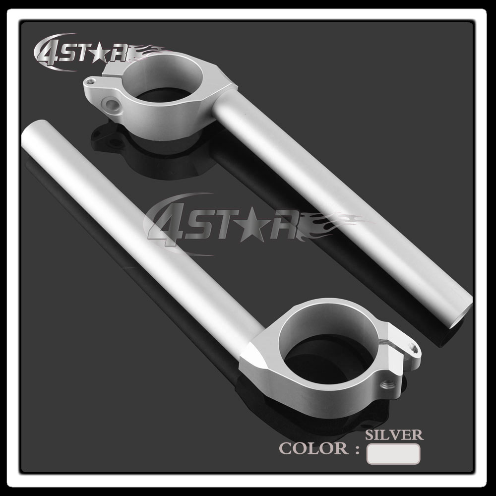 Silver CNC Aluminum Motorcycle Fork Tube Handlebars Hand Bar Riser Clip Ons Clip-on For YZF R6 YZF-R6 2006 2007 2008 2009 2010 стоимость