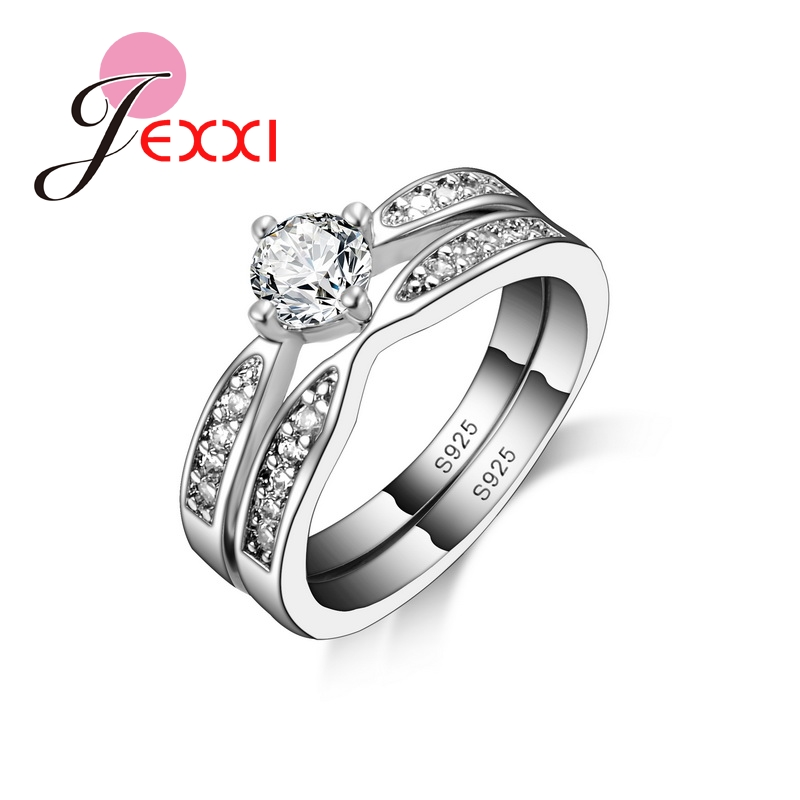 Romantic Classic Double Body Finger Ring 925 Sterling Silver
