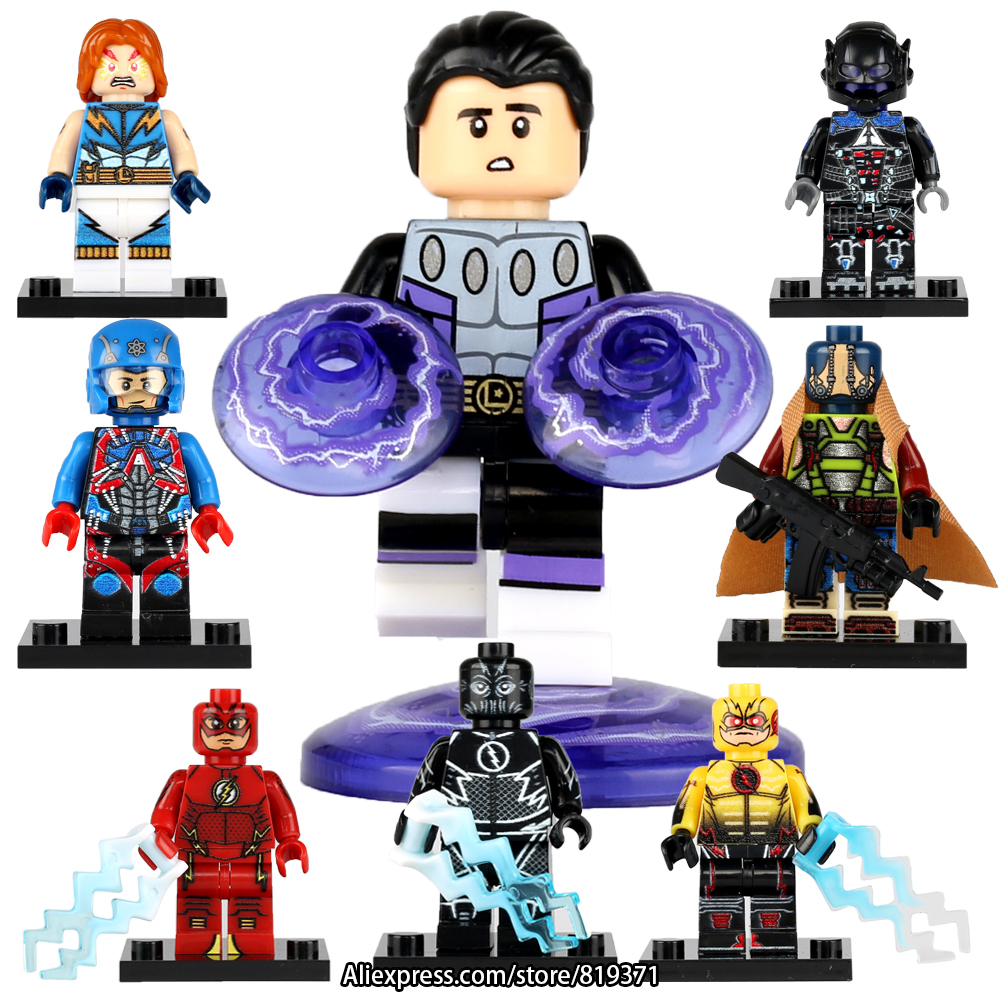 DC Building Blocks Super Cosmic Boy Atom Arkham Knight Models Best Kids Children Gift Toys Compatible with legoeINGlys 119 city series police car motorcycle building blocks policeman models toys for children boy gifts compatible with legoeinglys 26014