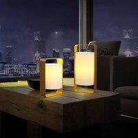 Современная Nordic Светодиодные настольные лампы Кровать Сторона ночь настольные лампы светильник домой Освещение в помещении номер Гостина