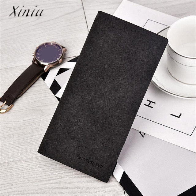 80f2395008a2 US $3.25 35% OFF Long Men Wallets Section Bifold Business Leather Wallet  Card Coin Wallet Purse New Design Dollar Price Top Luxury Wallet Men-in ...