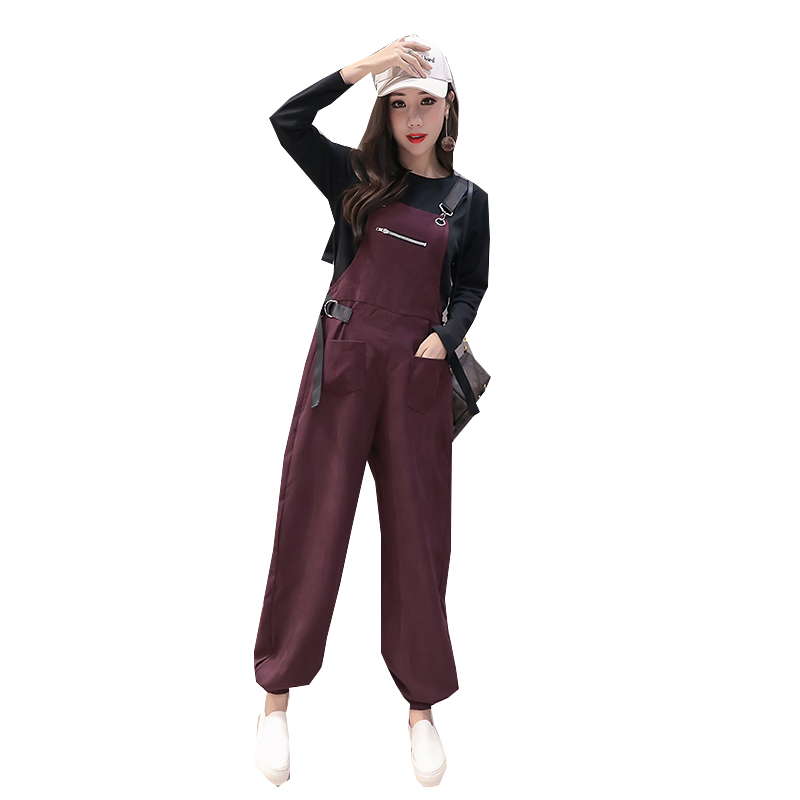 Winter Cotton Overalls Maternity Pants Warm Plus Velvet Pants Pregnancy Clothes For Pregnant Women Maternity Clothing