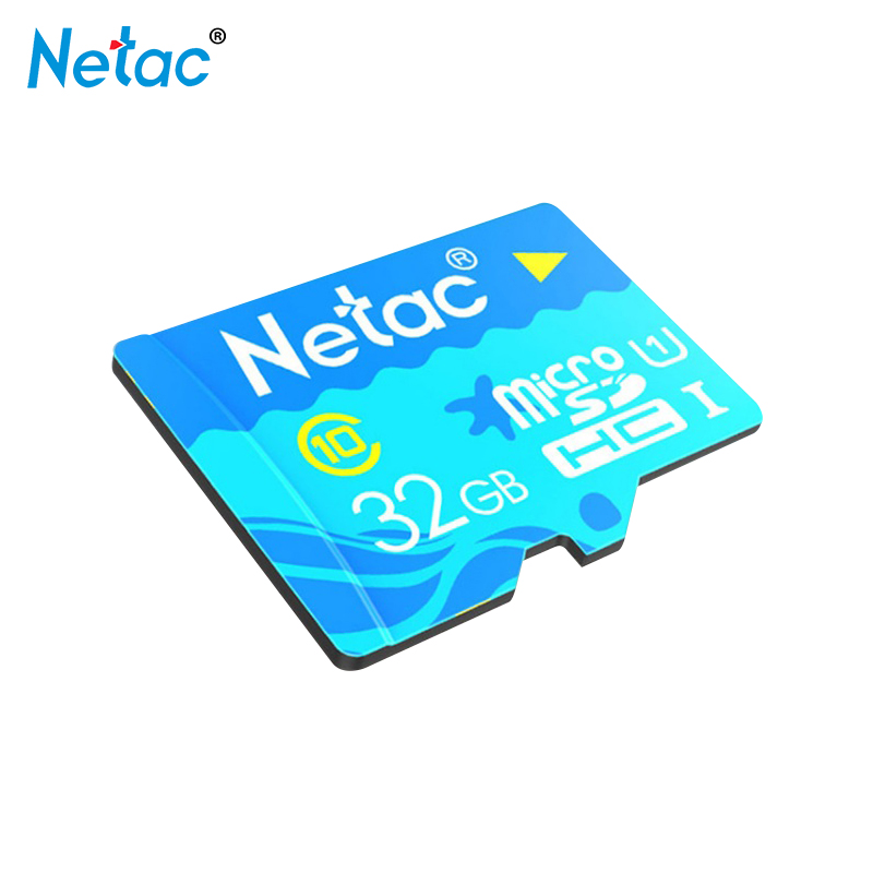 Original Netac Blue Colour Micro SD Card 32GB Class10 UHS1 Memory Card 32gb C10 TF Card High Speed for Phone Recorder Camera