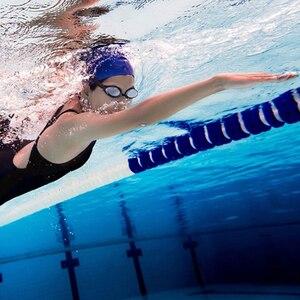 Image 3 - Yunmai yüzme gözlükleri seti HD anti sis burun güdük kulaklıklar silikon yüzücü gözlükleri siyah altın kiti
