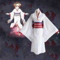 Japan Anime Noragami Nora Hine Aragoto Cosplay Costume Kimono Uniform Kimono+Belt+Bowknot+Headwear+Handguards