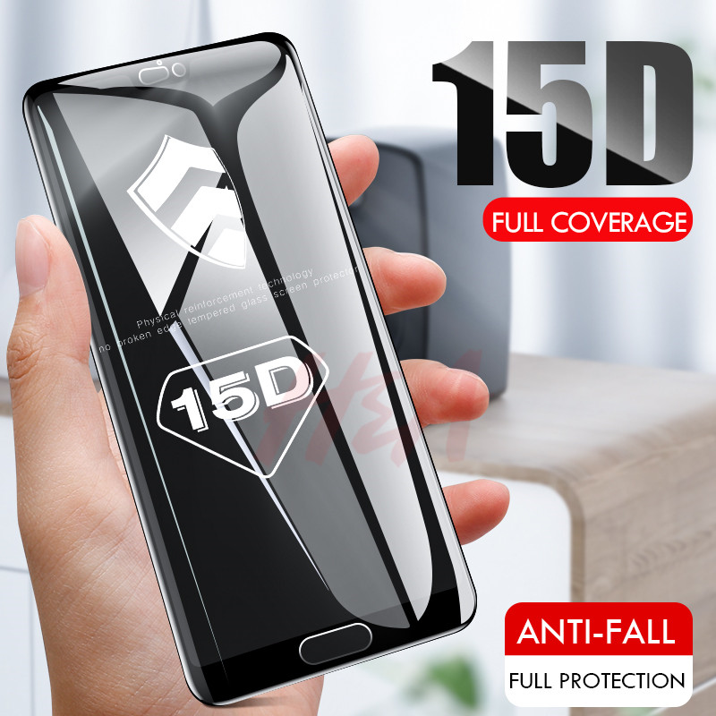 Image 3 - 15D Curved Full Cover Tempered Glass For Huawei Honor 7C 7A Pro 8X Protective Glass Screen protector On The P Smart Y5 2018 Film-in Phone Screen Protectors from Cellphones & Telecommunications