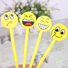 4Pcs set Kawaii Cute Emoji Funny School Supplies Gel Pen Stationery Pens For Writing