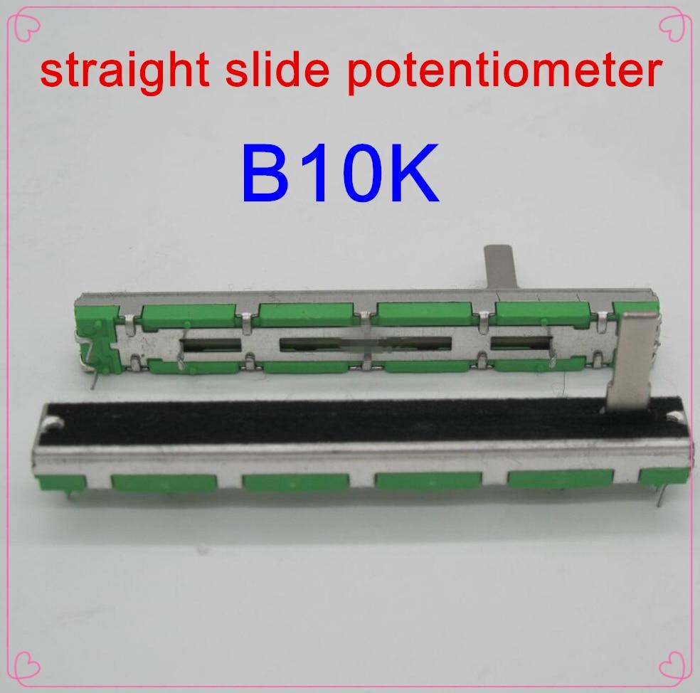 10PCS/LOT Original Behringer Soundcraft 7.5 Cm 75MM B10KX2 Double Straight Slide Potentiometer B10K