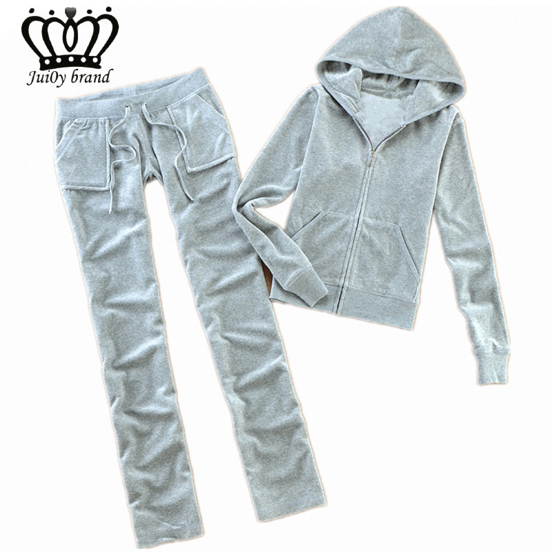 Spring / Autumn / 2018 Womens Brand Tracksuit Velvet Cloth Womens Suit Velor Tracksuit Sweatshirts & Pants size S-XL