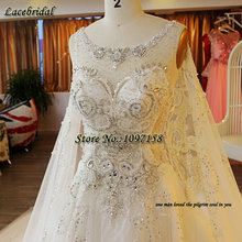 Luxury Sexy Ball Gown Cathedral Train Lace Beaded Diamond Rhinestone Wedding Dresses 2016 Royal Church Long Bridal Gowns XW141