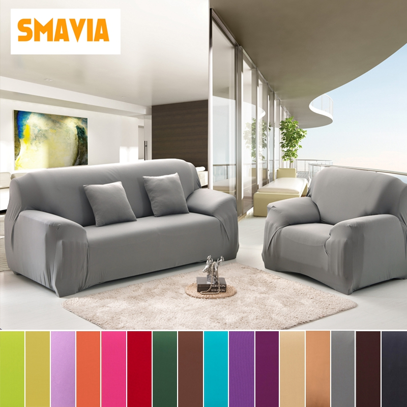 Big Elasticity Stretch Solid Color Sofa Cover Polyester