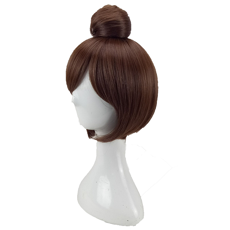 HAIRJOY  Synthetic Hair Tinker Bell Cosplay Wig with Detachable Bun Blonde Brown  Heat Resistant Costume Wigs 54
