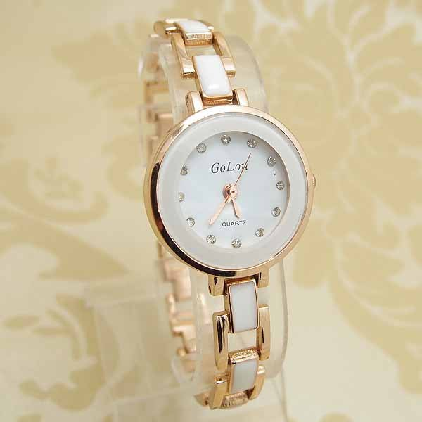 Fashion Rose Gold Bracelet Watch Women Ladies Rhinestone Dress Quartz Wristwatch
