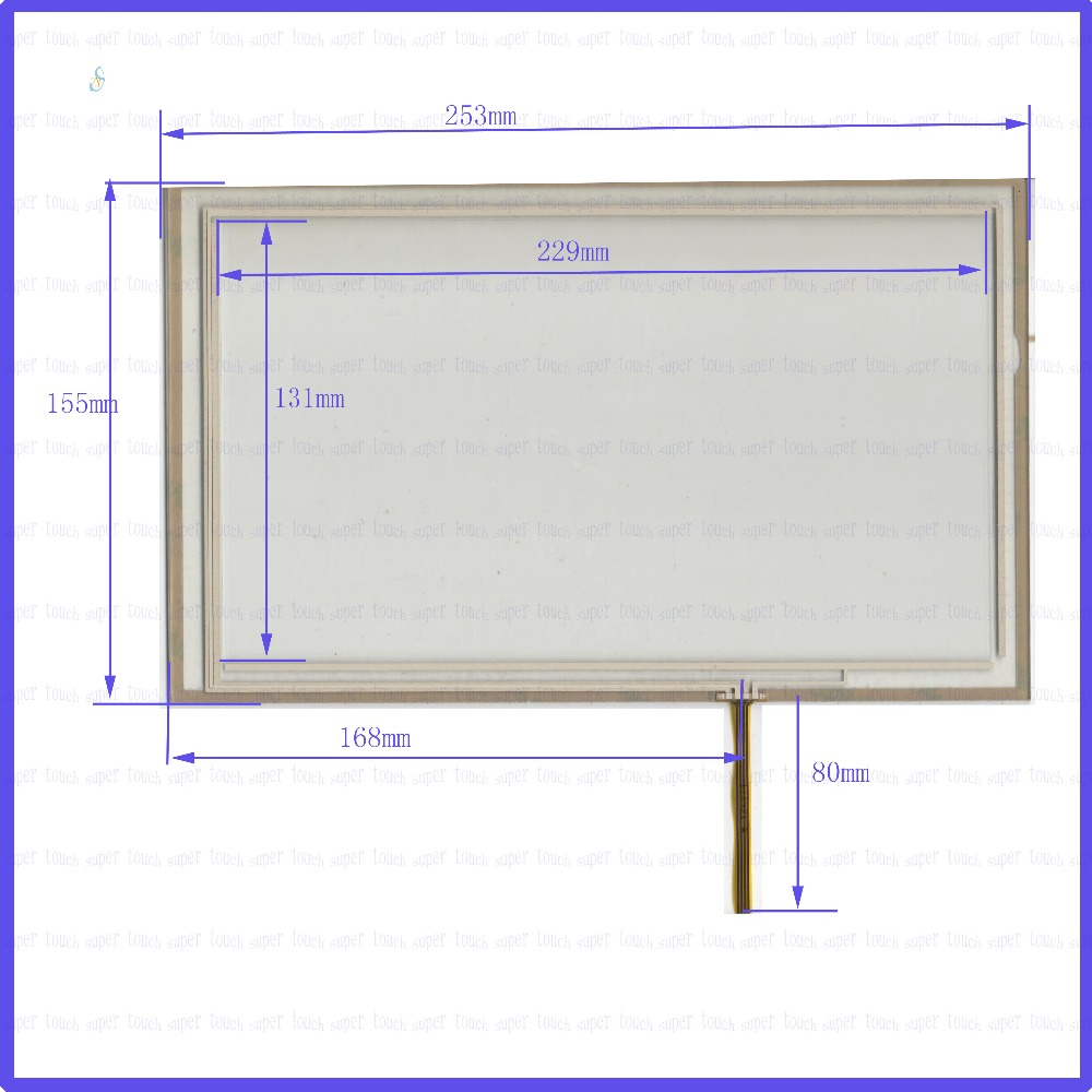 ZhiYuSun 10.4 inch Touch Screen  253mm*155mm 4 wire resistive  FOR  TABLE for laptop    253*155 the touchglass compatible zhiyusun new266mm 207mm original handwritten12inch touch screen panel n7x0101 4201 ld on digital resistance compatible