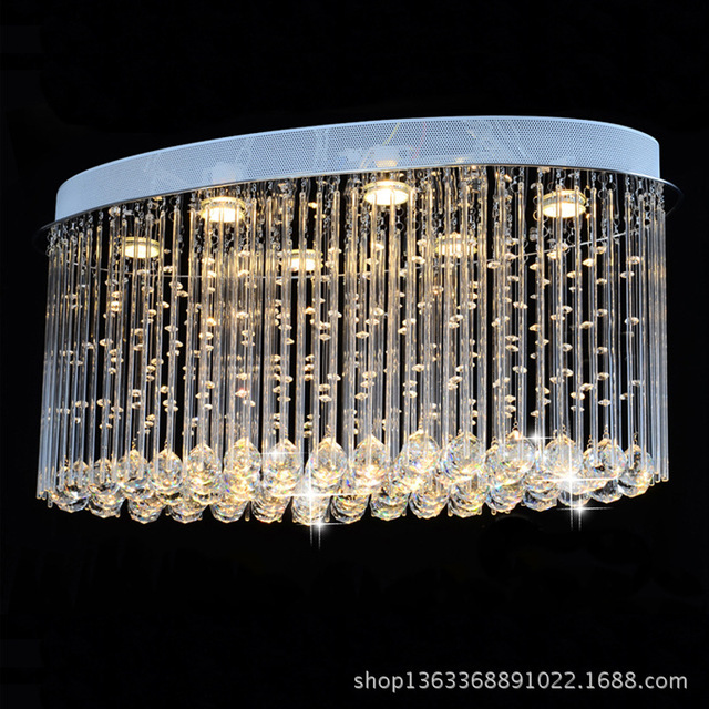 Free shipping new modern oval crystal chandelier luxury chandelier free shipping new modern oval crystal chandelier luxury chandelier cristal lamp flush led light for home mozeypictures Gallery