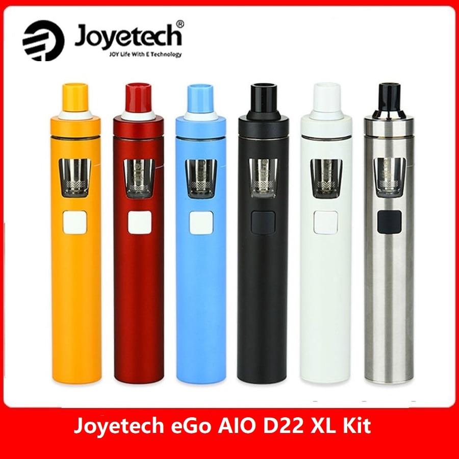 Original Joyetech eGo AIO D22 XL/eGo Aio D22 elektronische zigarette Kit 1500 mah/2300 mAh Batterie ego aio XL Vape stift Kit vs Ijust s