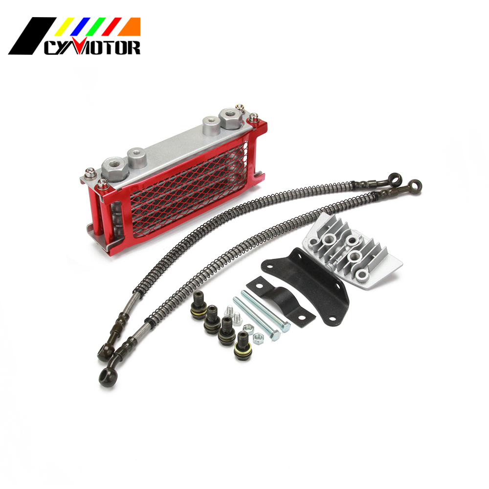 Oil Prevent Overheating Cooling Cooler Radiator For Loncin Zongshen <font><b>Lifan</b></font> Shineray Yinxiang 50 70 90 <font><b>110CC</b></font> Horizontal <font><b>Engines</b></font> image