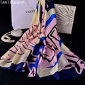 Desigual пальто шелковый шарф женский шарфы модные шарфы 2016 Мода Печатные Новые Женщины Длинные Шали Полиэстер Палантин Глушитель Женщин