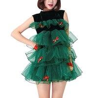 Himanjieクリスマスツリー印刷パーティードレス女
