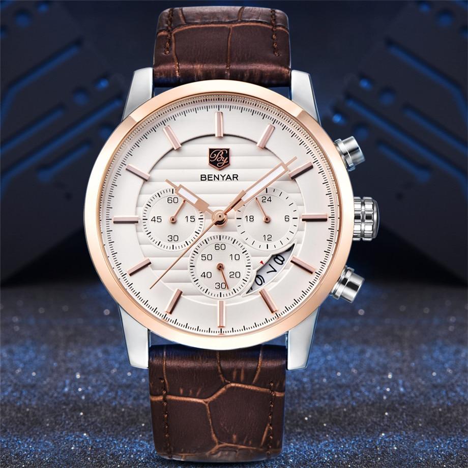 BENYAR Watch Men Waterproof Chronograph Business Dress Mans Watches Date Quartz Wristwatches Male Hour relogio masculino 2017 (15)