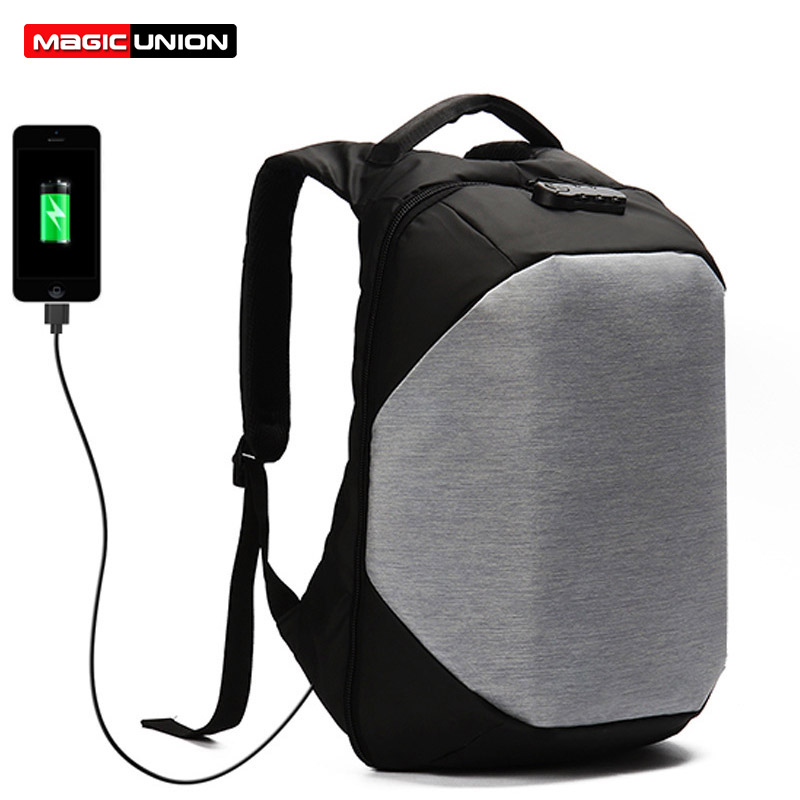 MAGIC UNION Multifunction USB charging Men 15inch Laptop Backpacks For Teenager Male Mochila Leisure Travel backpack anti thief baijiawei men and women laptop backpack mochila masculina 15 inch backpacks luggage