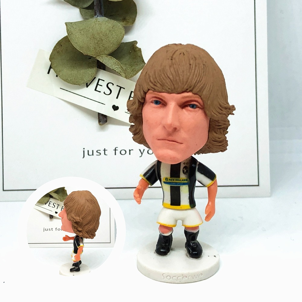 Soccerwe figurine football Classic 11# Nedved Movable joints resin model toy action figure dolls collectible gift