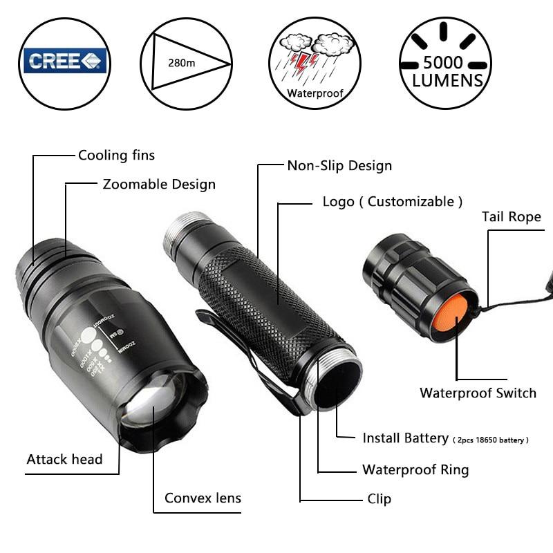 bateria para camping mais poderosa usb zoom led 02