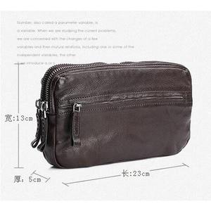 Image 5 - AETOO Bolso de cuero retro hecho a mano, primera capa de cartera de cuero, multitarjeta bolso de mano, Vintage, multiusos