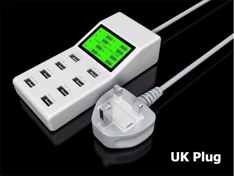 US-EU-UK-Multi-8-Usb-Ports-Charger-with-Lcd-Screen-Dc-Voltmeter-Smart-Wall-Charger-for-Yotaphone-2-Doogee-X5-S6-18650-Cell-Phone (13)