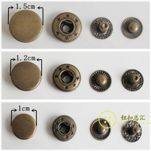 100 set Metal Bronze Snap Button Press Studs Fasteners Buttons Manual Installation Tool Clothes Accessories 10mm,12mm Wholesales цены