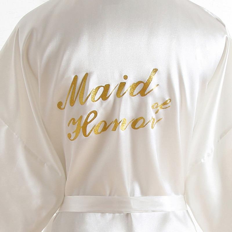 BZEL Maid Of Honor Robes Sleepwear Robe Wedding Bride Sexy Short Robes Pyjama Robe Female Nightwear Bathrobe Nightdress Kimono