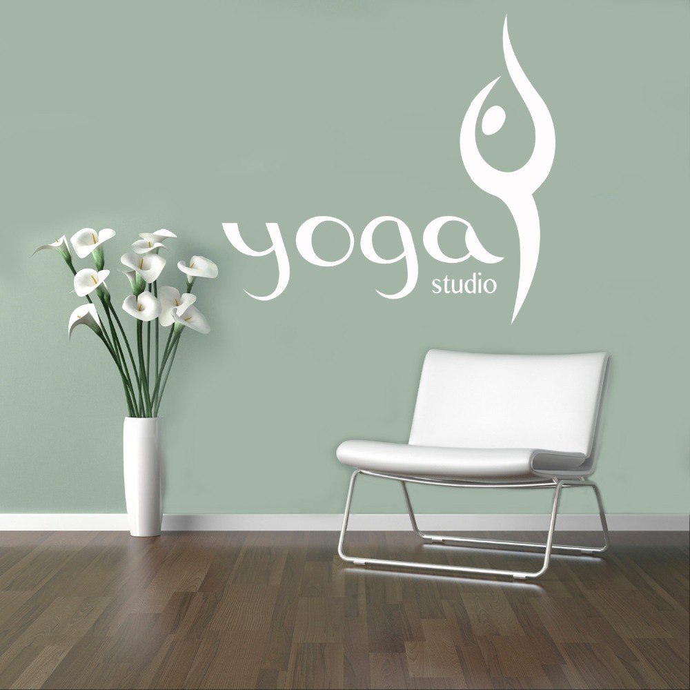 Aliexpresscom Buy Yoga Studio Wall Decal Livingroom Vinyl Wall - Yoga studio wall decals