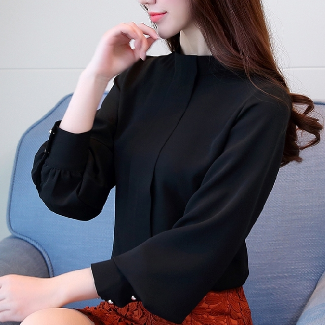 New Fashion 2019 women blouse shirt long sleeve plus size women's clothing red office lady shirt feminine tops blusas D208 30